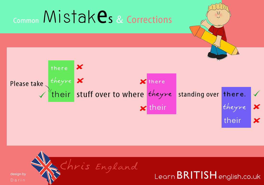 Worksheet There Vs Their learn english vs british english